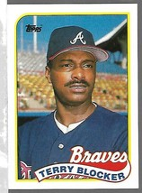 1989 Topps Baseball  -#76-Terry Blocker-Braves-Outfield - $4.04