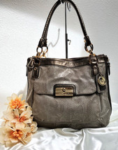 Rare Coach Kristin Embossed Python N/S Zip Tote in Brown - Style 18307 $... - $272.24