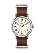 Timex Weekender® Slip-Thru - Brown Leather Strap - $61.20