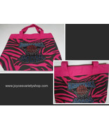 Basketball MOM Tote Bag Pink Zebra Print BASKETBALL MOM NIP Large - $8.99