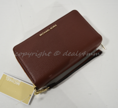 NWT Michael Kors Adele Large Leather Smartphone Wallet/Wristlet in Brick... - £105.10 GBP
