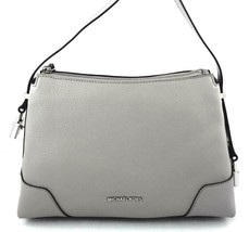 AUTHENTIC NEW NWT MICHAEL KORS $248 LEATHER CROSBY GREY MEDIUM MESSENGER... - $138.00