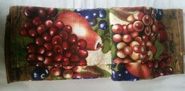 "SET of 2 PRINTED JUMBO KITCHEN TOWELS (17"" x 27"") 100 % cotton, FRUITS b... - $14.84"