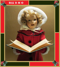 "17 inches ""Little Caroler"" Porcelain SHIRLEY TEMPLE Christmas Doll - by ... - $99.00"