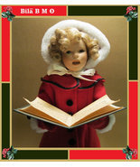 "17 inches ""Little Caroler"" Porcelain SHIRLEY TEMPLE Christmas Doll - by Danbury  - $125.00"