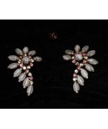 Costume Jewelry Rhinestone Earrings Vintage 1950s - $18.99