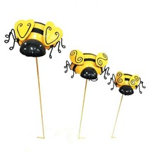 """Bumblebe Design Metal Garden Stakes Set of 3 Double Pronged 28"""" 24"""" 20"""" ... - $39.49"""