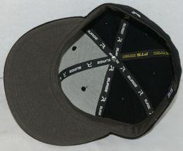 Richardson 7 1/4 Inch Fitted Black PTS 65 Uform Visor Baseball Cap image 6