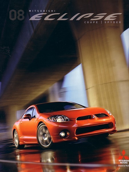 2008 Mitsubishi ECLIPSE sales brochure catalog 08 US Spyder