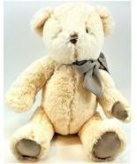"""Gund 15"""" Soft Plush Teddy Bear Cream Colored With Bow Free Shipping - $13.85"""