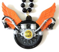 Harley Wings Motorcycle Pendant Mardi Gras Necklace Beads Bead - $6.00 CAD