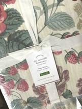 Pottery Barn Elia Duvet Cover Set Pink Rose King 2 Euro Sham Floral Farm... - $199.00