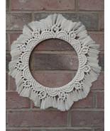 Macrame mandala wall hanging | Nursery decor | Boho wreath | Round macra... - $29.11
