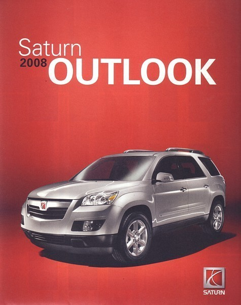 Primary image for 2008 Saturn OUTLOOK sales brochure catalog 08 US XE XR
