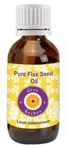 100% Pure Flax Seed Oil Natural Essential Oil Therapeutic Grade Cold Pressed - $9.49+