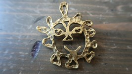 """Vintage AMCO Picasso Style Face Brooch 2 1/8"""" - $17.81"""