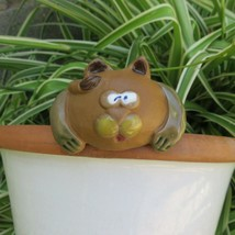 Vintage Ceramic Crazy Cat Watering Spike Garden Art Indoor Outdoor Plant... - $29.65