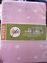 Circo Woven Pink White Arrow Fitted Crib Sheet New Baby Toddler Bedding Boho - $13.49
