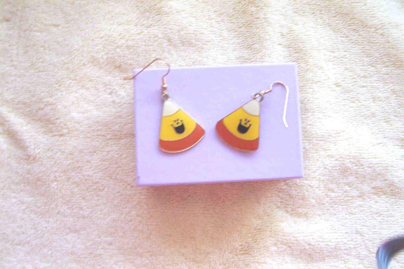 Klein International Ltd. Candy Corn Earrings Halloween