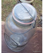 Antique Rare Ball Ideal Clear Glass 3 Gallon Canning Storage Jar Lot # 133 - $135.00