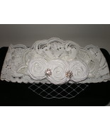 LITTLE GIRL BEAUTIFUL HANDMADE LACE WITH VEIL PHOTO PROP HEADBAND - $14.00