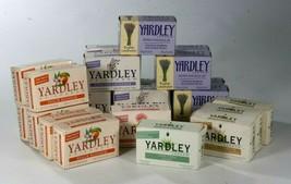 Yardley Bar Soap Lavender Rose Peach Aloe Vera Peach Oatmeal & Almond Lot Of 22  - $48.94