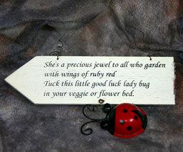 Ladybug Spring Country Garden Plaque  - $8.95