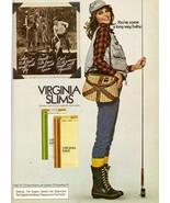 1978 Virginia Slims Cheyl Tiegs Cigarette Fishing Sexy Vintage Print Ad ... - $7.92