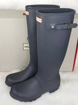 Hunter Women's Original Tall Wellington Boots - Dark Slate Sz 8 New! - $119.99