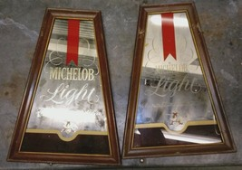 MICHELOB BAR Mirrors TWO Advertisement Vintage ... - $98.99