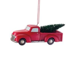 Midwest CBK 4 Inch Pickup Truck With Tree Ornament - $9.85