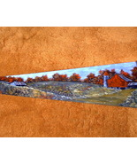 Hand Painted Vintage Handsaw Old Farm Scene Win... - $45.00