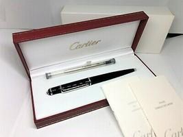 Auth CARTIER Diabolo de Cartier Ballpoint Pen Black Composite Platinum ST180010 - $350.00