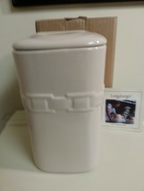 Longaberger Large Ivory Canister With Lid Pottery New In Box Holds 70 OZ - $44.50