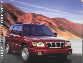 2002 Subaru FORESTER brochure catalog 02 US 2.5 L S - $8.00