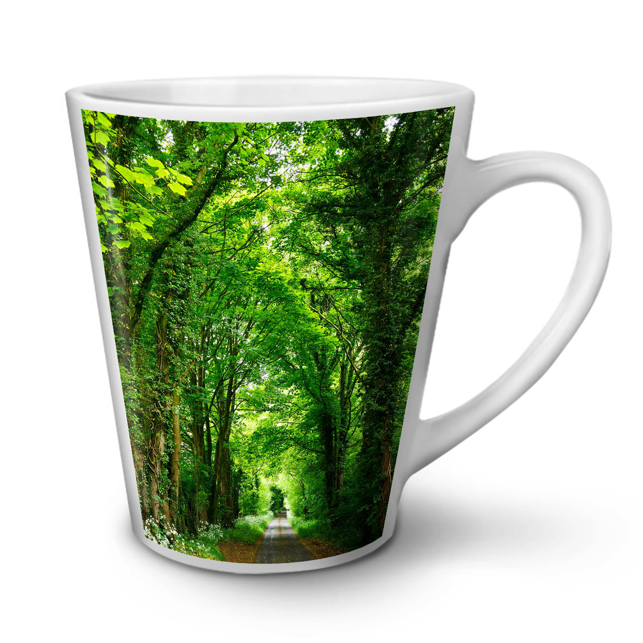 Primary image for Green Forest Road NEW White Tea Coffee Latte Mug 12 17 oz | Wellcoda
