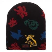 Bioworld Hogwarts House Mascots Gryffindor Hufflepuff Beanie Hat KC5YSXHPT - $17.60
