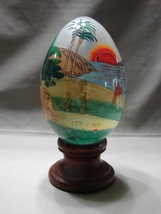 Treasured Visions CREATION Old Testament Hand Painted Glass Egg 1991 - $7.99