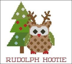 Rudolph Hootie Christmas Hootie 003 owl cross stitch chart Pinoy Stitch - $5.40