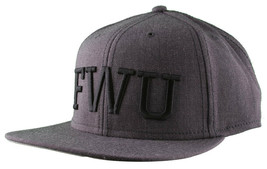 Crooks & Castles F.W.U Fu k with Us Heather Charcoal Snapback Baseball Hat NWT image 2