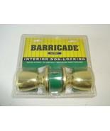 NIP - Barricade By YALE Interior Non Locking 100RP C3-4K - Brass Finish - $21.11