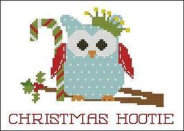 Christmas Hootie 002 Crown owl cross stitch chart Pinoy Stitch - $5.40