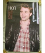 HOT Sexy Robert Pattinson 22x34 Poster Leather Jacket Plaid Shirt Twilig... - $7.19