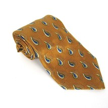 Robert Talbott Studio Men's Neck Tie Hand Sewn 100% Silk Golden Water Drops - $25.99