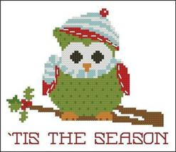 Tis The Season Christmas Hootie 001 owl cross stitch chart Pinoy Stitch - $5.40