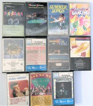 Lot of 11 Cassettees 1950's & 60's Beach Boys Elvis Ricky Nelson Michael... - $17.64