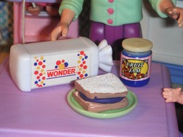 Barbie Fun Fixin Play Food Loaf of Wonder Bread & Jar of Jam & Jelly San... - $14.99