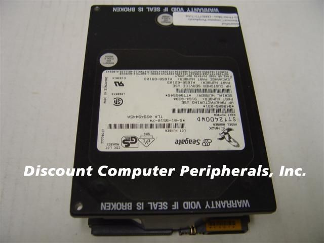 Seagate ST12400WD 2GB 3.5IN SCSI 68PIN DIFF Drive Tested Good Free USA Shipping