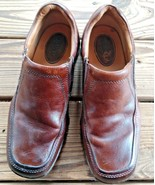 Born Size 9.5 Brown Leather Casual Slip on Loafers Comfort Boat Shoes Men's - $32.29