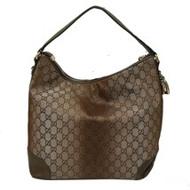 Authentic GUCCI Guccissima Canvas Glitter Hobo Bag with Heart Motif Leat... - $467.49